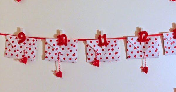 ich liebe dich weil romantischer adventskalender diy weihnachten deko pinterest. Black Bedroom Furniture Sets. Home Design Ideas