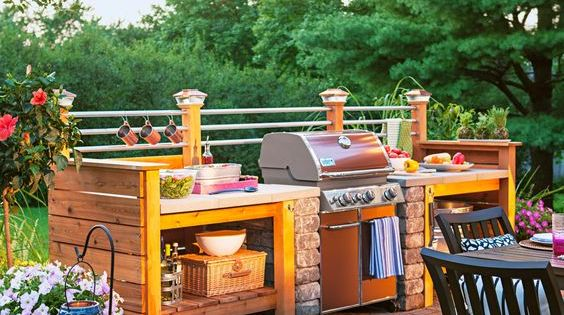 15 Beautiful Ideas For Outdoor Kitchens Wood Structure