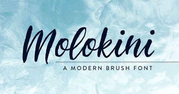 Molokini Handwritten Brush Script by Pixelwise Co. on @creativemarket