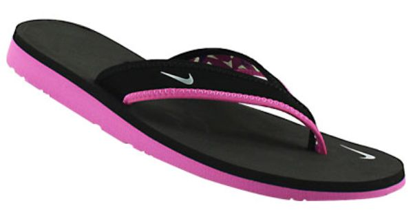 Pink And Black Women S Sandals Womens Nike Celso Girl