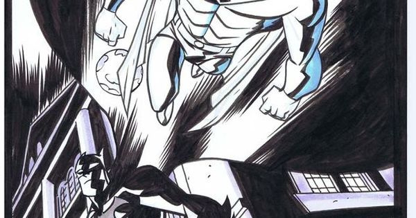 Superman and Batman; by Mike Oeming batman superman 2015 movie hero evil