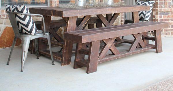 DIY Outdoor Benches for my Table Muebles, Tutoriales y Bricolaje