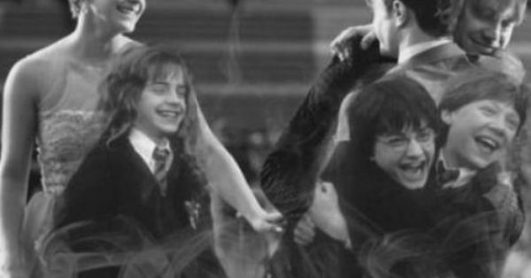Favorite Harry Potter Cast picture EVER GoldenTrio
