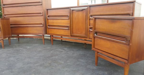 bedroom set mid century modern by bassett industries mid century
