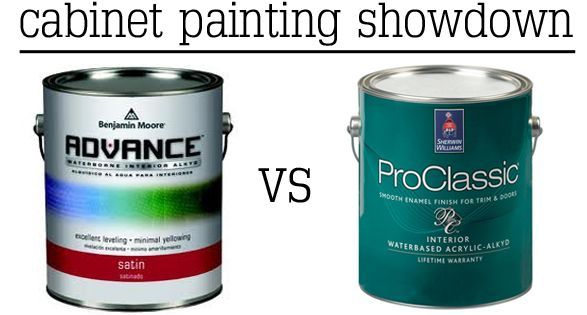 Benjamin vs sherwin advance paint benjamin moore and for Acrylic paint for kitchen cabinets