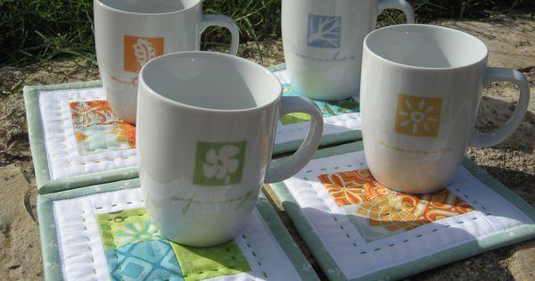 MUG RUGS   MINI QUILT TUTORIAL for mug rugs and coasters  