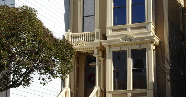 Exterior Of A San Francisco Victorian Townhouse Designed