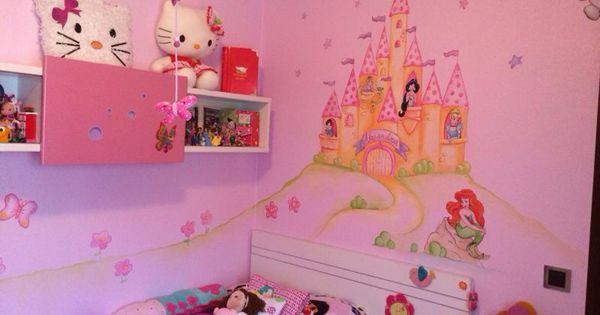 Castillo de princesas para habitacion infantil murales - Murales para ninas ...