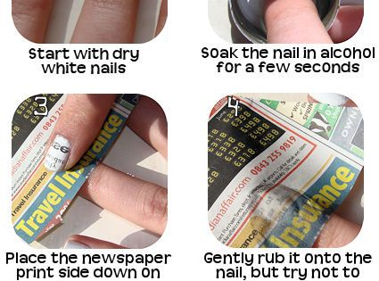 Newspaper Nail Art Tutorial braid haircolor coolhair longhairdontcare curly straight makeup hairdye