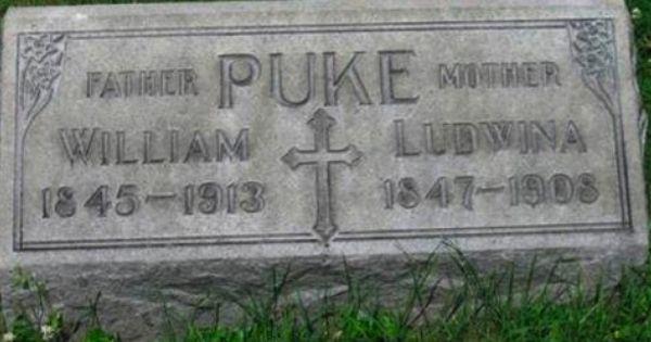 Puke Funny Tombstones Funny Gravemarkers Funny Headstones