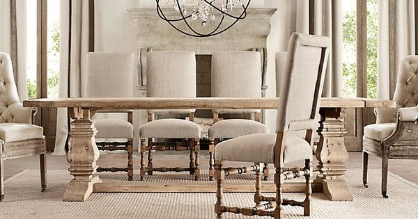 Restoration hardware table set great for Who manufactures restoration hardware furniture