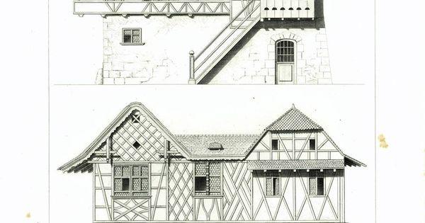 1861 plans chalet d 39 alpage suisse canton de thurgovie - Maison campagne suisse fovea architects ...