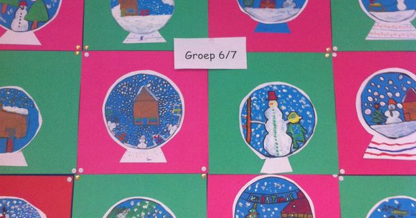tekenen sneeuwbollen met groep 6 7 knutselen