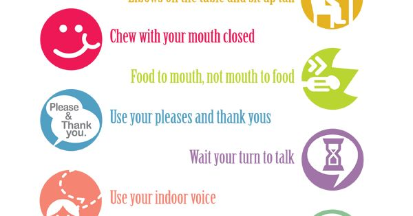 Teaching Kids Manners - 10 Table Manners Printable - iMOM ^