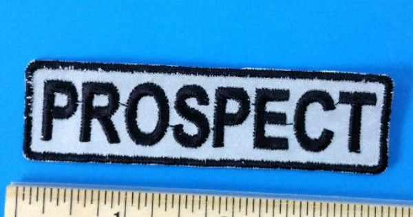 Biker Vest Patches >> PROSPECT Patch Motorcycle Club Rank Officer Reflective Patches for Vest Night Visiblity ...