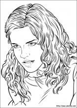 Coloriage Hermione Et Ginny.Coloriage Portrait D Hermione Coloriage Harry Potter