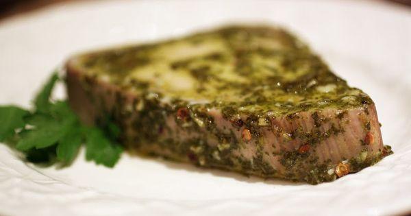 Chimichurri Tuna Steaks   Food   Pinterest   Tuna, Paleo Blog and Tuna ...