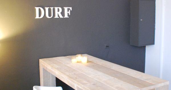 Bar tafel van steigerhout type greenville bar tafel l160 b80 h110 de tafel heeft een extra - Furniture wereld counter ...