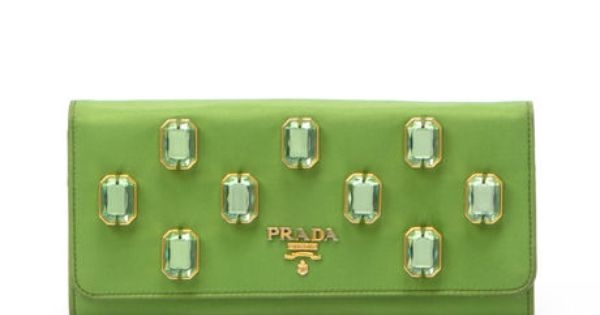 Prada green polyester long #wallet. Available at lxrco.com for ...