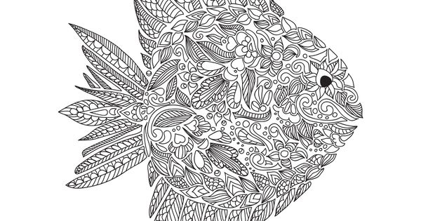 Free coloring page coloring-adult-zentangle-fish-by ...