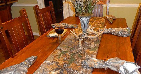 Realtree Xtra Camo Dinning Table Decoration Harvest
