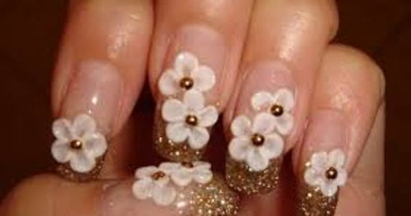 The Most Expensive Acrylic Nails In The World Floral Nails Floral Nail Designs Cute Acrylic Nail Designs