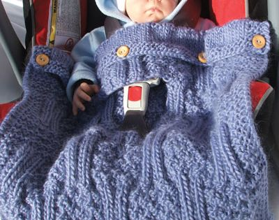 Knitted carseat cover