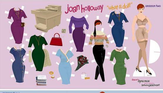 Dyna Moe, Joan Holloway paper doll.