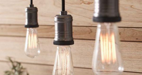 Pottery Barn Pendant Track Lighting : Exposed bulb pendant track lighting pottery barn