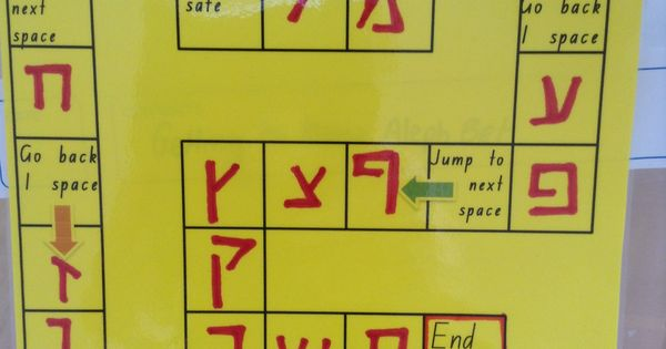 Board Games In Hebrew : Developing letter recognition board game hebrew reading