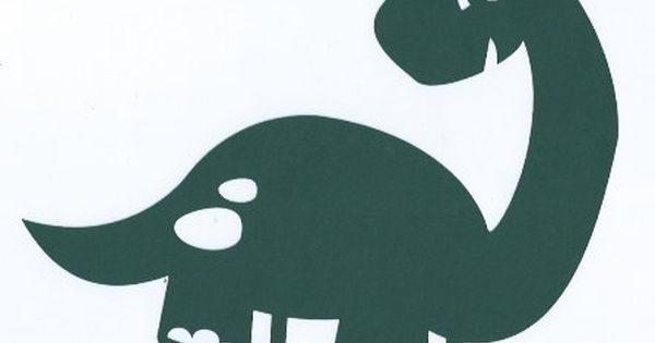 Cute Dinosaur 2 Silhouette By Hilemanhouse On Etsy 1 99