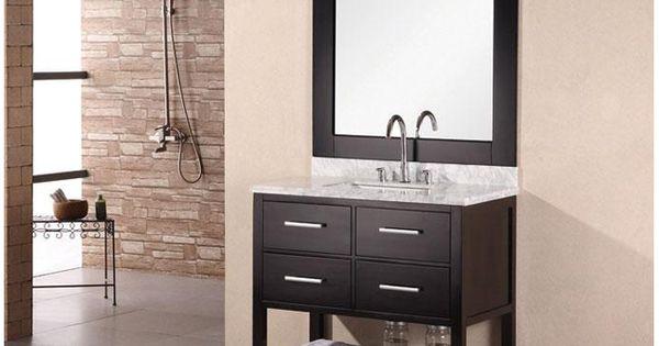 Euro Design Vanity 36 Single Bathroom Vanity Set