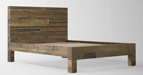 Emmerson reclaimed wood bed natural bed sets bed for Recycled timber beds