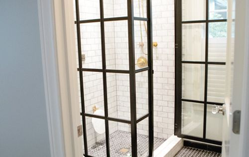 shower doors // bathroom designed by Bailey Quin McCarthy featuring the Medium