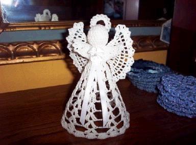 Crochet Pattern Central Free Pattern Lora S Angel Angel Crochet Pattern Free Christmas Crochet Patterns Crochet Angel Pattern