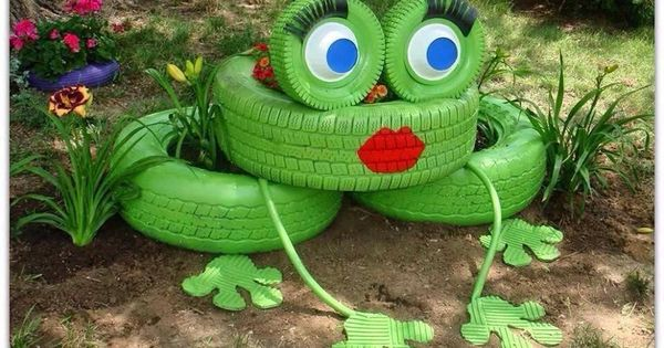 Llantas rana jardin pinterest for Ranas decoracion jardin
