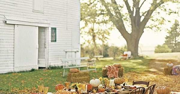 Outdoor Thanksgiving table on the farm!
