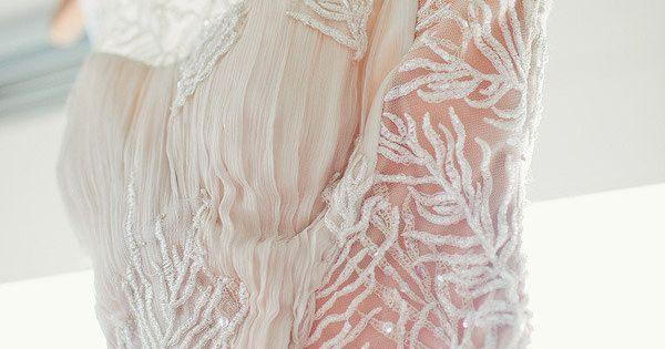 Tadashi Shoji Lace & Chiffon Gown