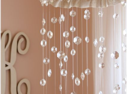 DIY mobile -cute for a little girl's room