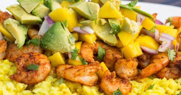Recipe: Paprika Shrimp with Mango and Avocado Salsa - HEALTHYRECIPE healthy lowfat