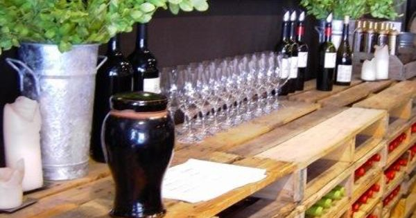 DIY - Wood pallet wine rack