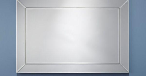 Avatar miroir mural rectangulaire en verre biseaut for Taille moyenne salle de bain