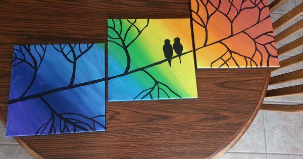 Diy multi panel canvas painting diy pinterest diy for Multi canvas art diy