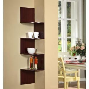 4d Concepts Hanging Wall Corner Shelf Storage 99600 At The Home Depot Mobile Corner Shelf Design Corner Shelves Shelves