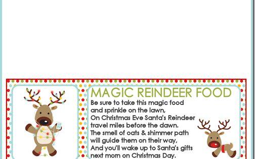 Reindeer food, Reindeer and Bag toppers on Pinterest