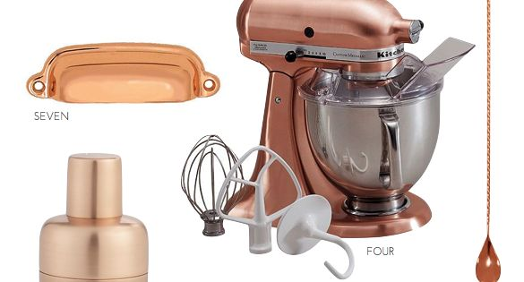 the copper kitchen trend gift guide holiday 2015