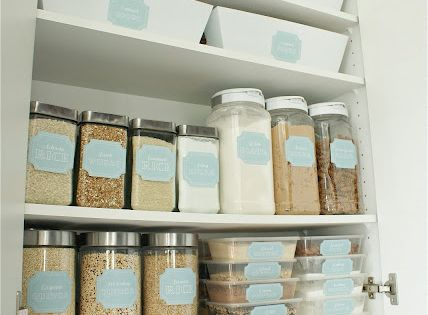 Dollar Store Pantry Makeover & printable labels! For the new kitchen!!!