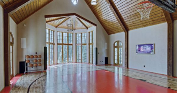 Pin By Meredith Whiten On House Things Indoor Tree House Home Basketball Court Indoor Basketball Court