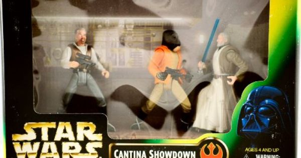 NEW STAR WARS Power of the Force CANTINA SHOWDOWN PLAYSET w// 3 ACTION FIGURES