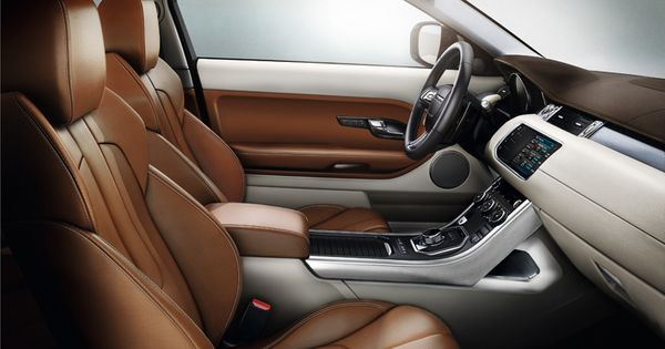 Range rover evoque prestige design spirit leather - Range rover with red leather interior ...